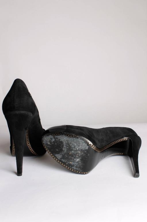 Chanel Pumps - black suede/patent leather 3