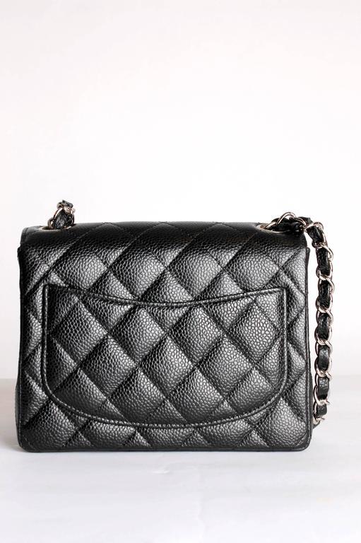 01f3946e3d08 Chanel 2.55 Mini Classic Flap Bag - black caviar leather In New Condition  For Sale In