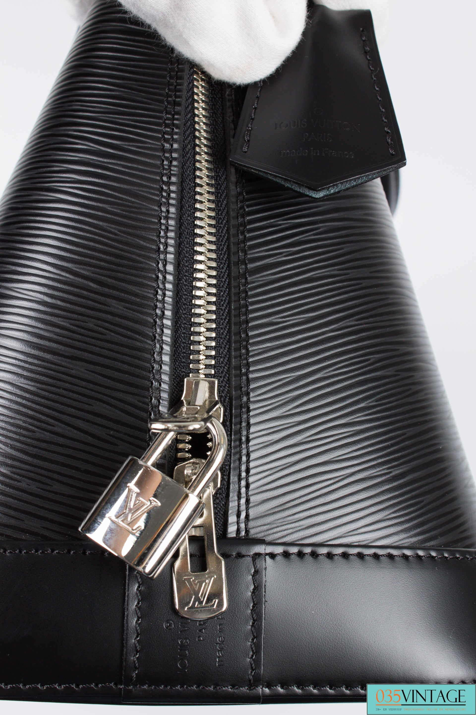08f259217f0 Louis Vuitton Alma MM Epi - black leather at 1stdibs