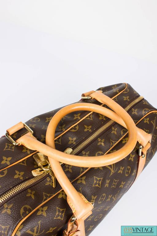 Louis Vuitton Carry All Weekend Bag - brown canvas/beige leather 5