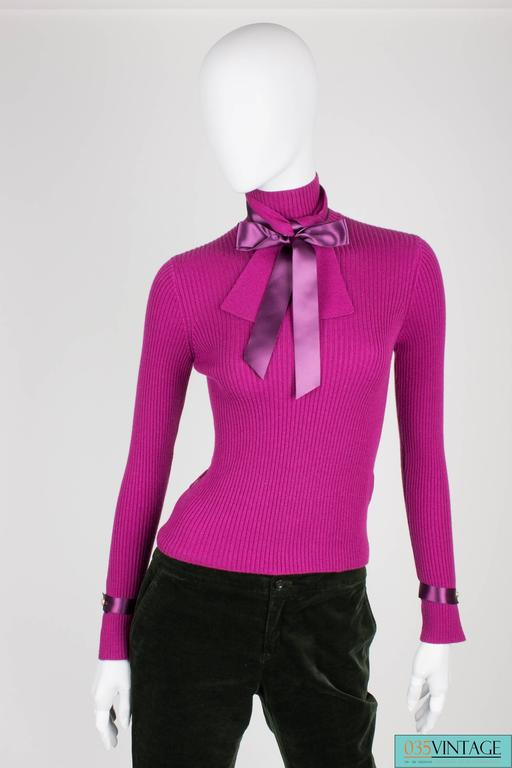 Purple Chanel Turtle Neck Cashmere Sweater - purple For Sale
