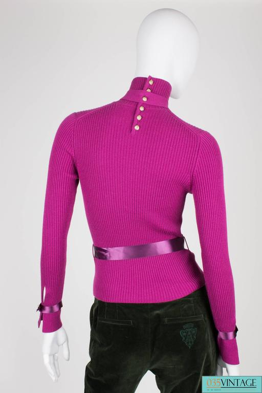Chanel Turtle Neck Cashmere Sweater - purple In New never worn Condition For Sale In Baarn, NL