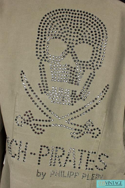 Women's or Men's Philipp Plein Jacket - army green/black fur For Sale