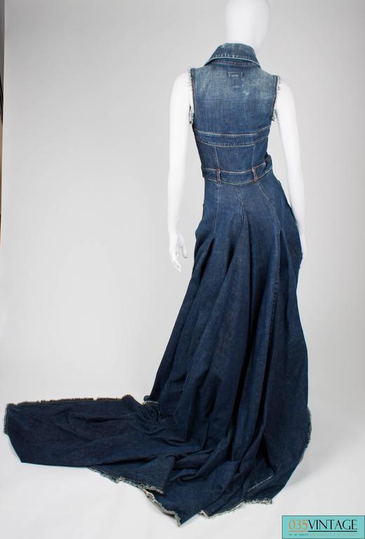 Diesel Denim Dress Limited Edition Blue Jeans At 1stdibs