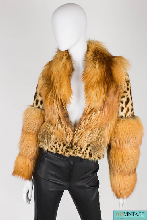 Gucci Fur and Leather Coat - light brown 2