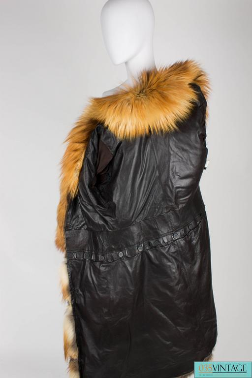 Gucci Fur and Leather Coat - light brown 4
