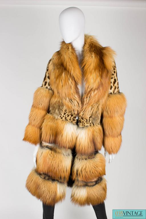 Gucci Fur and Leather Coat - light brown 6