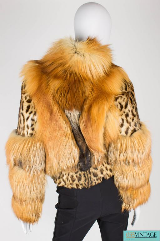 Gucci Fur and Leather Coat - light brown 9