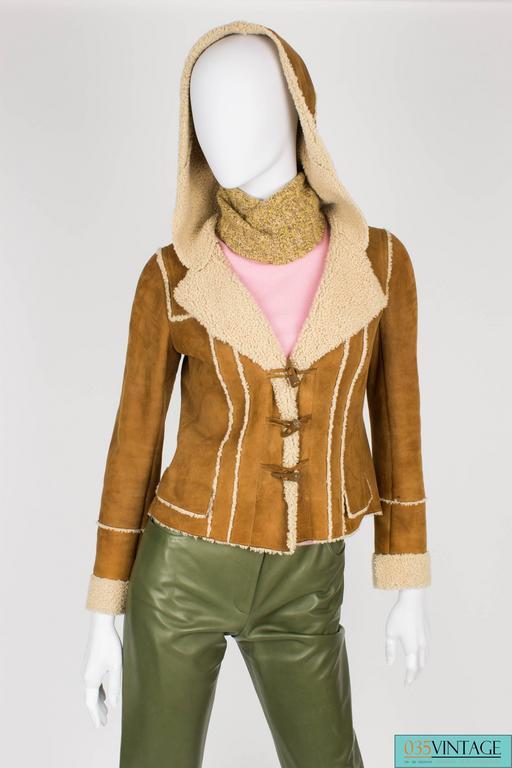 Chanel Lammy Coat - brown/gold 2