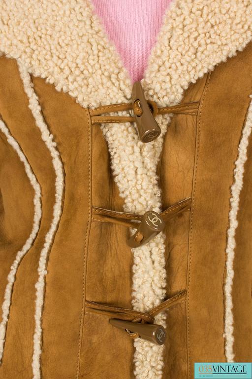 Chanel Lammy Coat - brown/gold 5