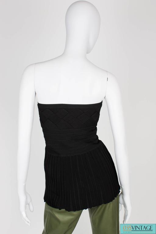 Chanel Strapless Top - black 2