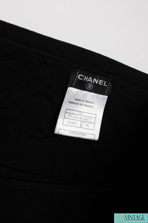 Chanel Strapless Top - black 3