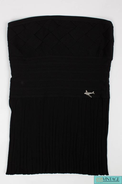 Chanel Strapless Top - black 4