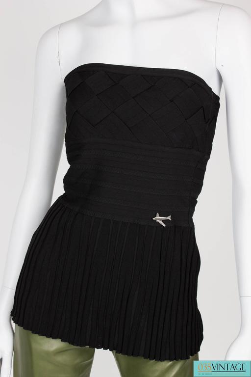 Chanel Strapless Top - black 5