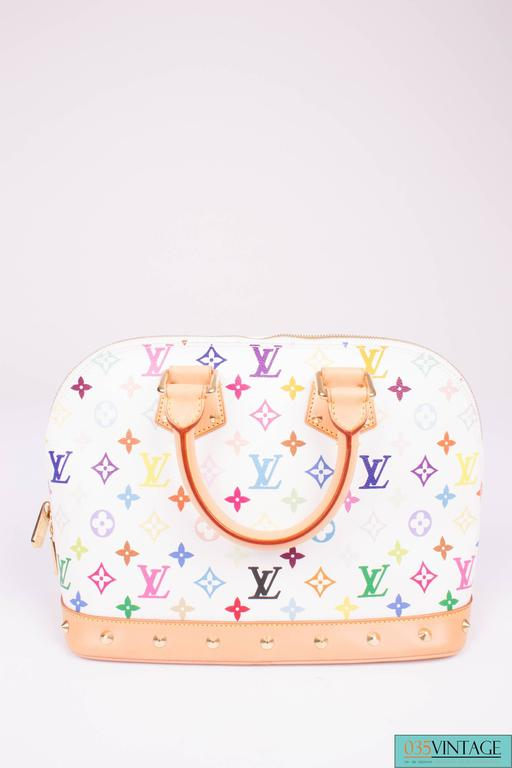 Louis Vuitton Alma Pm Monogram Multicolore Rainbow Canvas