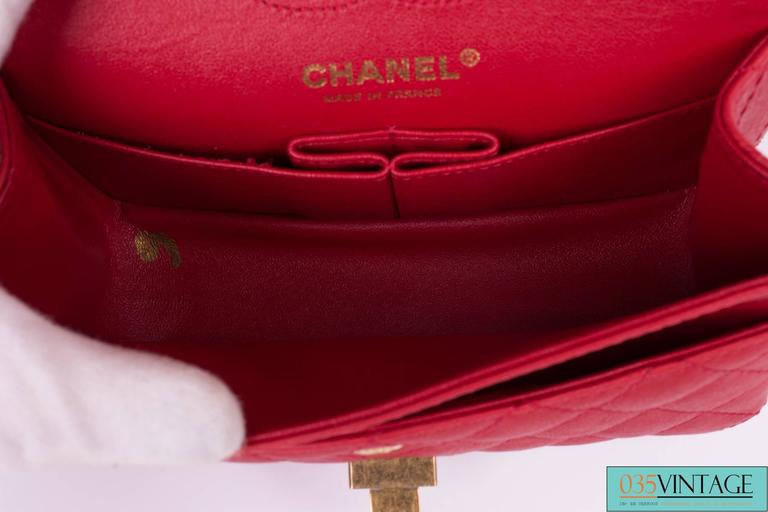 1480d71fb231 Chanel 2.55 Reissue Classic Mini Double Flap Bag Mademoiselle Lock - red  For Sale 1