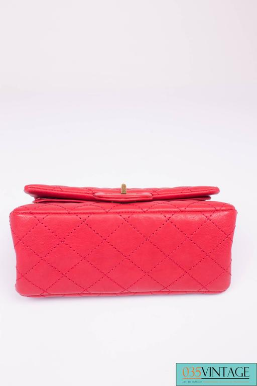 e446d53a52a3 Chanel 2.55 Reissue Classic Mini Double Flap Bag Mademoiselle Lock - red  For Sale. Classic bag by Chanel, in a 'mini' version, très chique! This