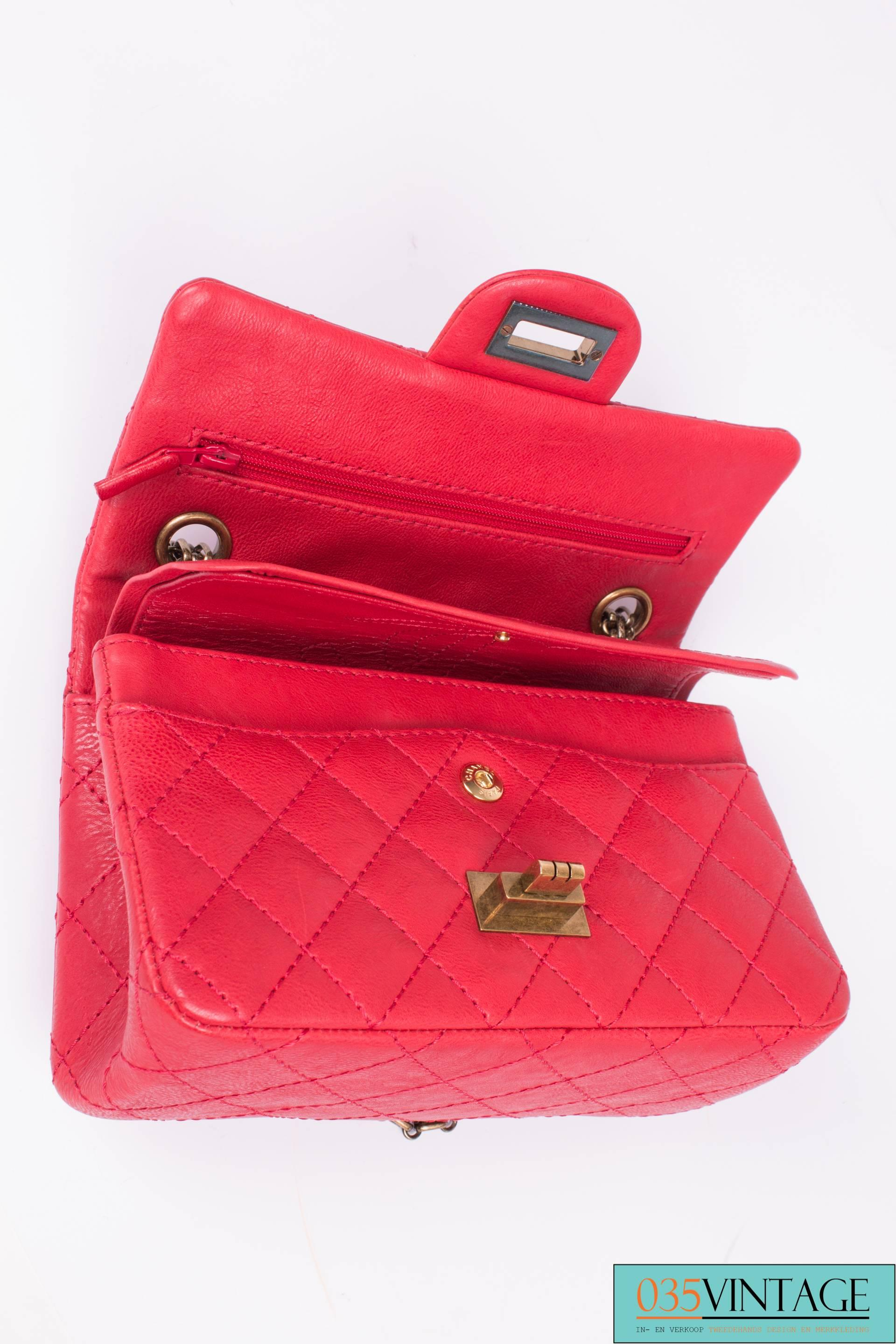 c0e6c2008054 Chanel 2.55 Reissue Classic Mini Double Flap Bag Mademoiselle Lock - red at  1stdibs