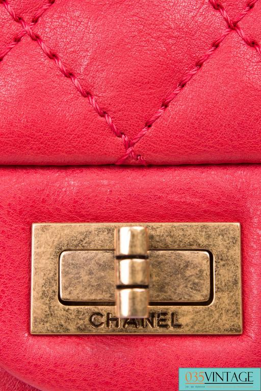 ccae3475f918 Chanel 2.55 Reissue Classic Mini Double Flap Bag Mademoiselle Lock - red  For Sale 5