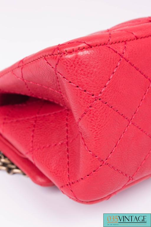 3334c8adefd1 Chanel 2.55 Reissue Classic Mini Double Flap Bag Mademoiselle Lock - red  For Sale 4