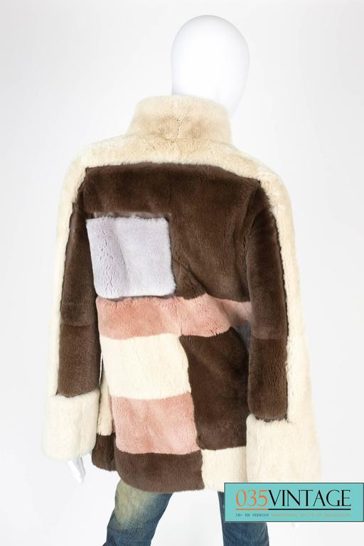 Beige Emilio Pucci Rabbit Fur Coat - brown/beige/gray/pale pink  For Sale