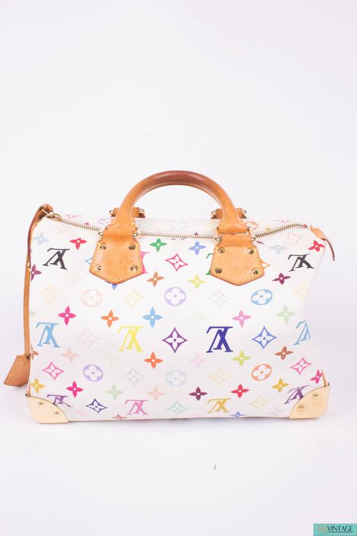 801698f4a6c4 ... Murakami Multicolor Monogram Canvas - white For Sale. Cheerfull and  sturdy at the same time! This is the Louis Vuitton Speedy 30 in