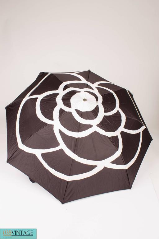 Chanel Umbrella Case Single Flap Bag - black leather 5