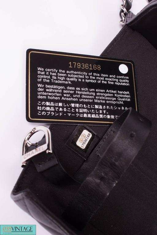 Chanel Umbrella Case Single Flap Bag - black leather 7