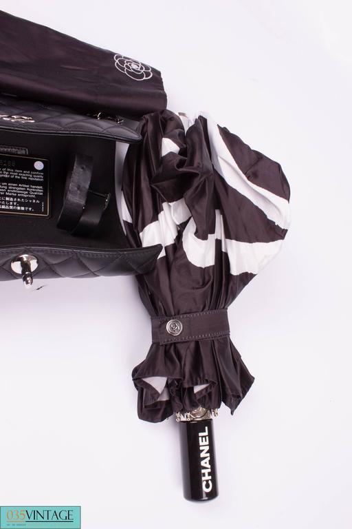Chanel Umbrella Case Single Flap Bag - black leather 6