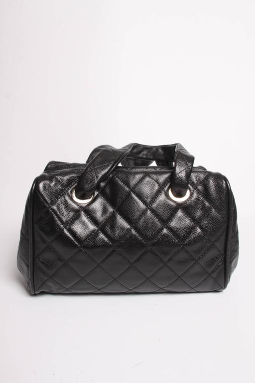 00dadd9715 Chanel Top Handle Shopper Bag - black caviar leather For Sale at 1stdibs