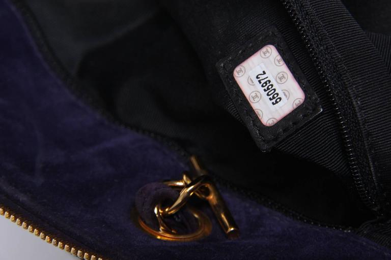 Chanel Shopping Tote Bag - purple suede 2