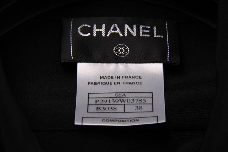Black  Chanel Silk Sleeveless Blouse - black  For Sale