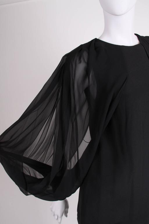 Gucci Silk Open Sleeve Blouse - black 5