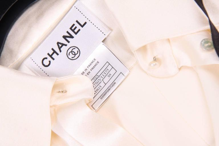 Chanel Silk Sleeveless Blouse - ivory white  4