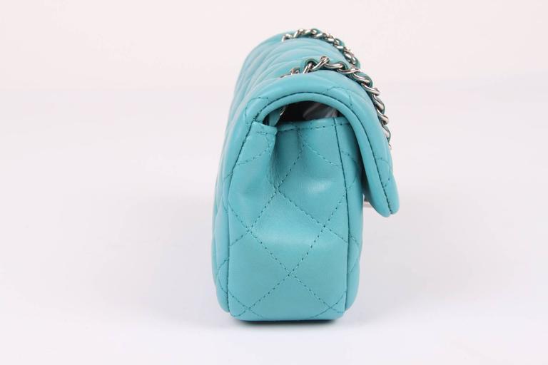Chanel 2 55 Classic Mini Flap Bag Crossbody Turquoise At