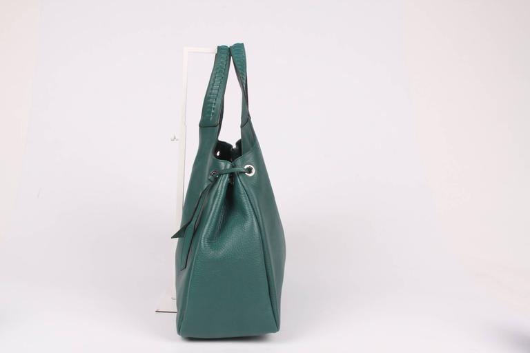 Salvatore Ferragamo Large Tote Bag - emerald green For Sale. Oh la la, such  a beauty! And brand new... A large 8b268f06d2