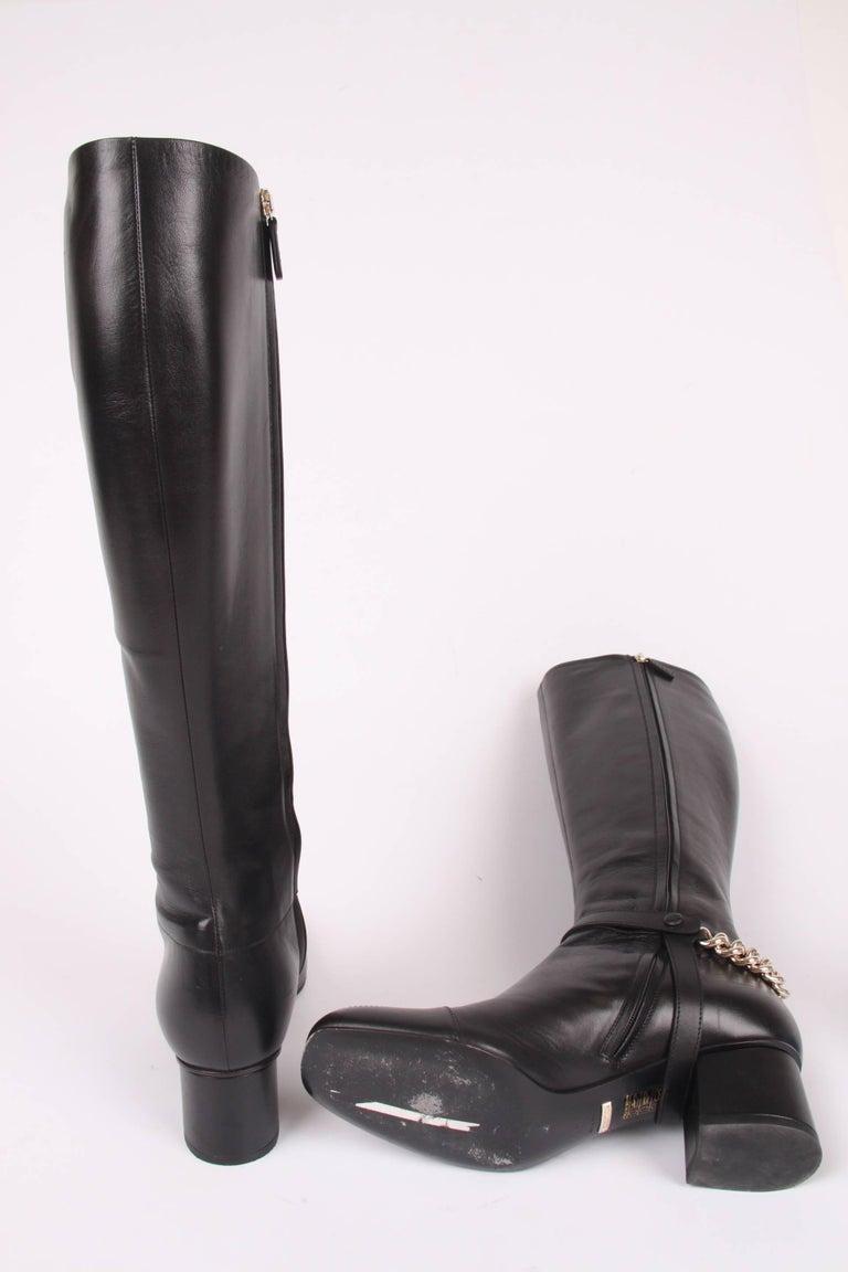 4eb504a797e Women s or Men s Gucci Lifford Malaga Knee-high Boots - black For Sale
