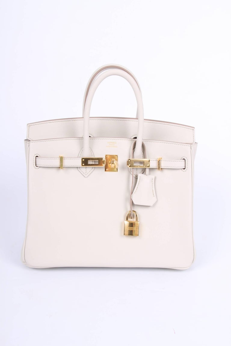 New! Hermes Birkin 25 Calfskin Leather - Beton 2017-  very rare! In New Condition For Sale In Baarn, NL