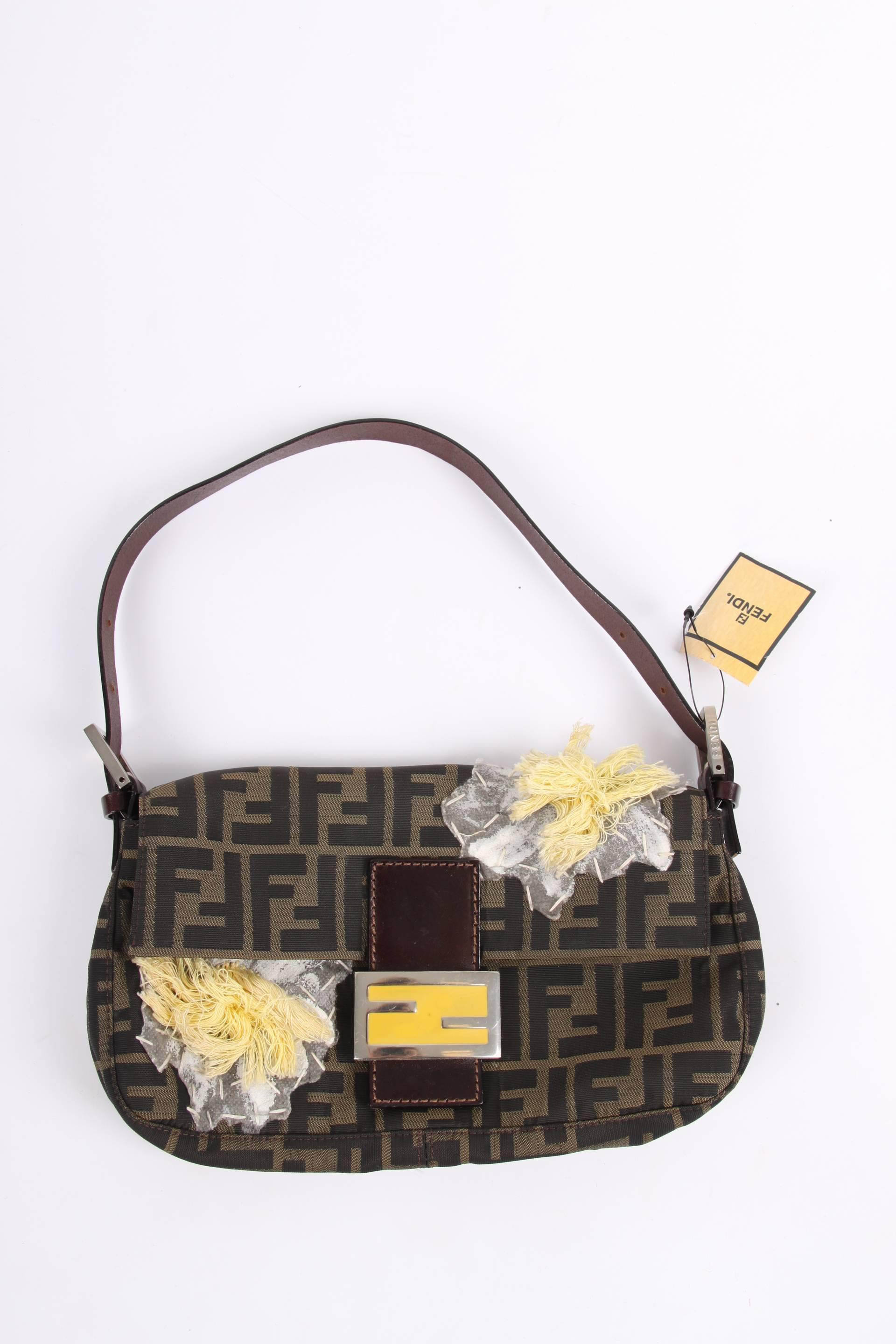 86abcd8f4f31 ... where can i buy fendi zucca flower baguette shoulder bag brown for sale  at 1stdibs e5be3 ...