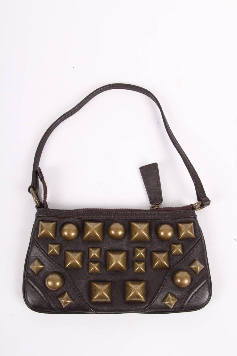 11ca24a36be9 Brandeal Rakuten Ichiba Burberry Tote Bag Check Black. Black Burberry  Leather Xl Studded Clutch Dark Brown. Burberry Leather Xl Studded Clutch  Dark Brown At ...