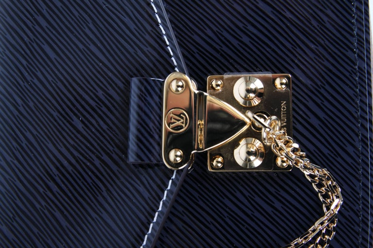 Louis Vuitton Shiny Epi Pochette Métis Mini 2017 - dark blue/brown 7