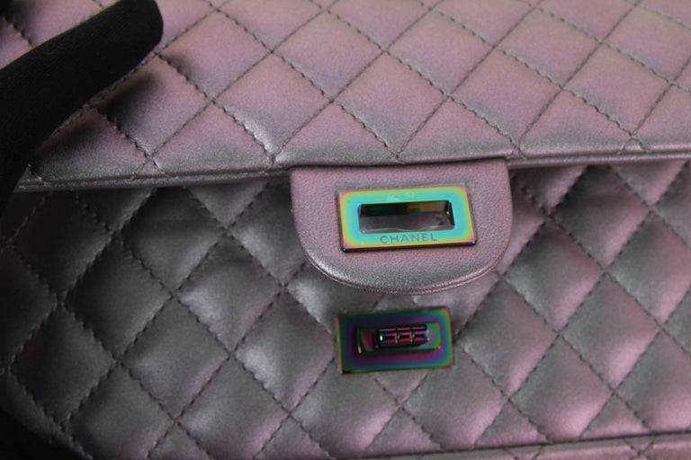 e6c08beae238 Chanel Medium 2.55 Reissue Double Flap Bag - Lilac Iridescent Mermaid For  Sale 1