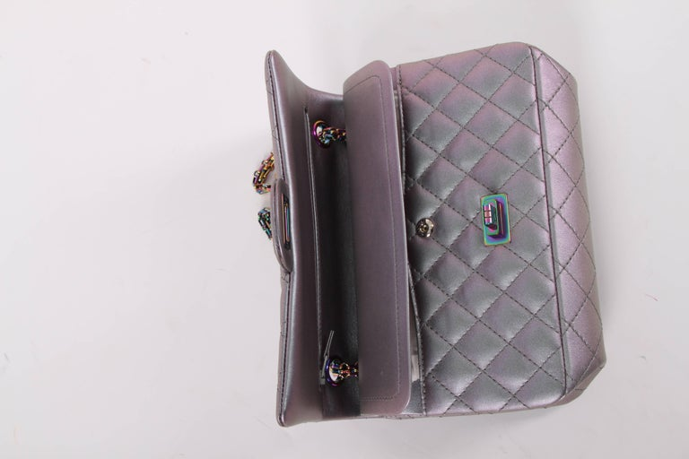 0a7f34792e7c Women's or Men's Chanel Medium 2.55 Reissue Double Flap Bag - Lilac  Iridescent Mermaid For Sale