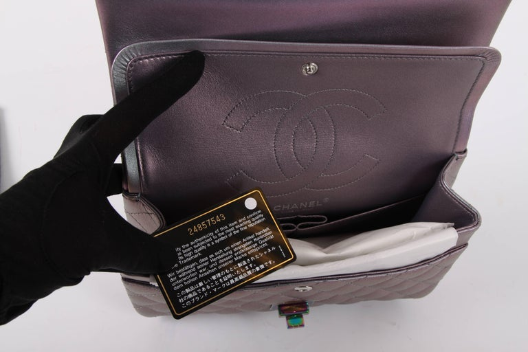 5fbd6d1bf50c Chanel Medium 2.55 Reissue Double Flap Bag - Lilac Iridescent Mermaid For  Sale 2
