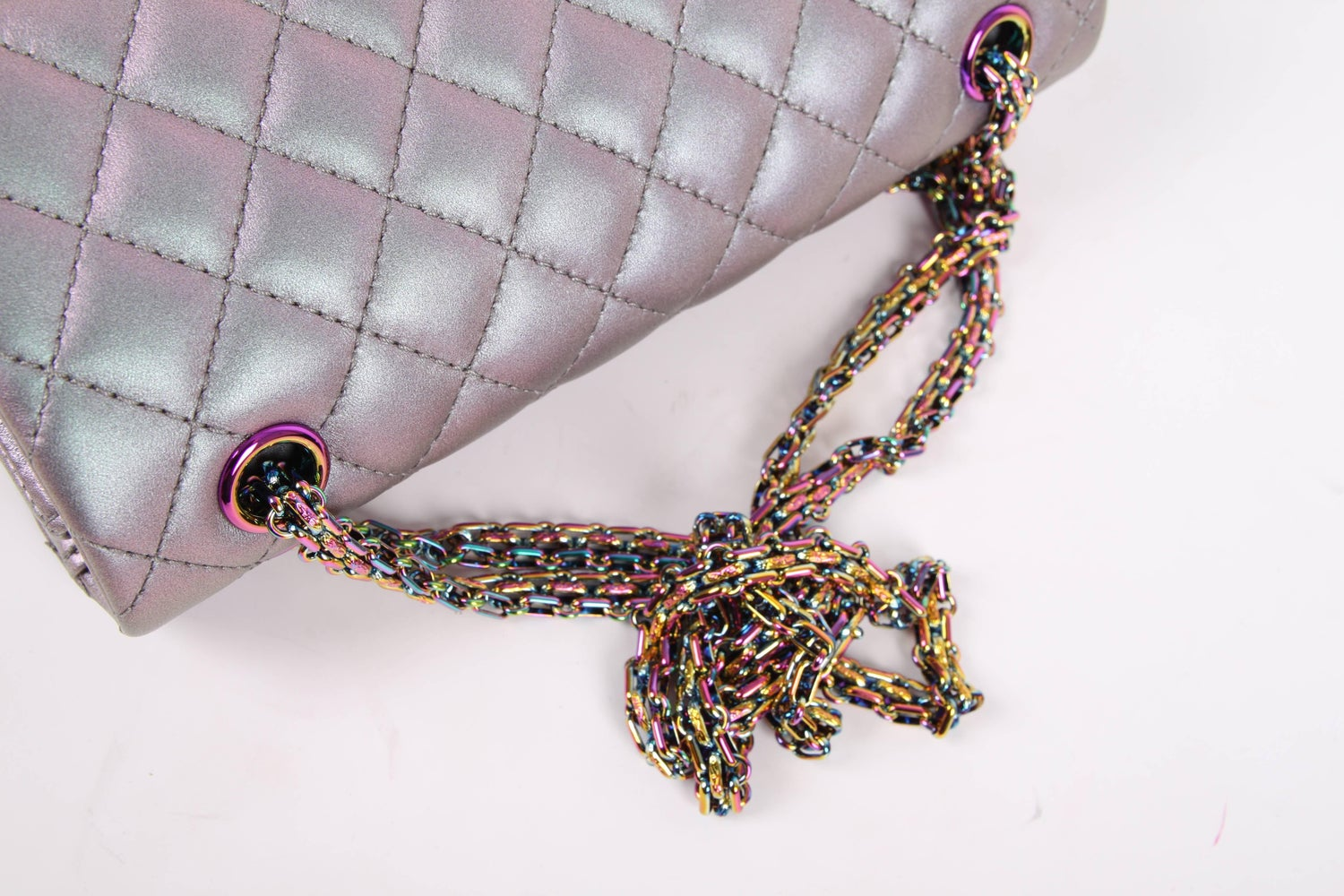 76e03a04afa8 Chanel Medium 2.55 Reissue Double Flap Bag - Lilac Iridescent Mermaid at  1stdibs