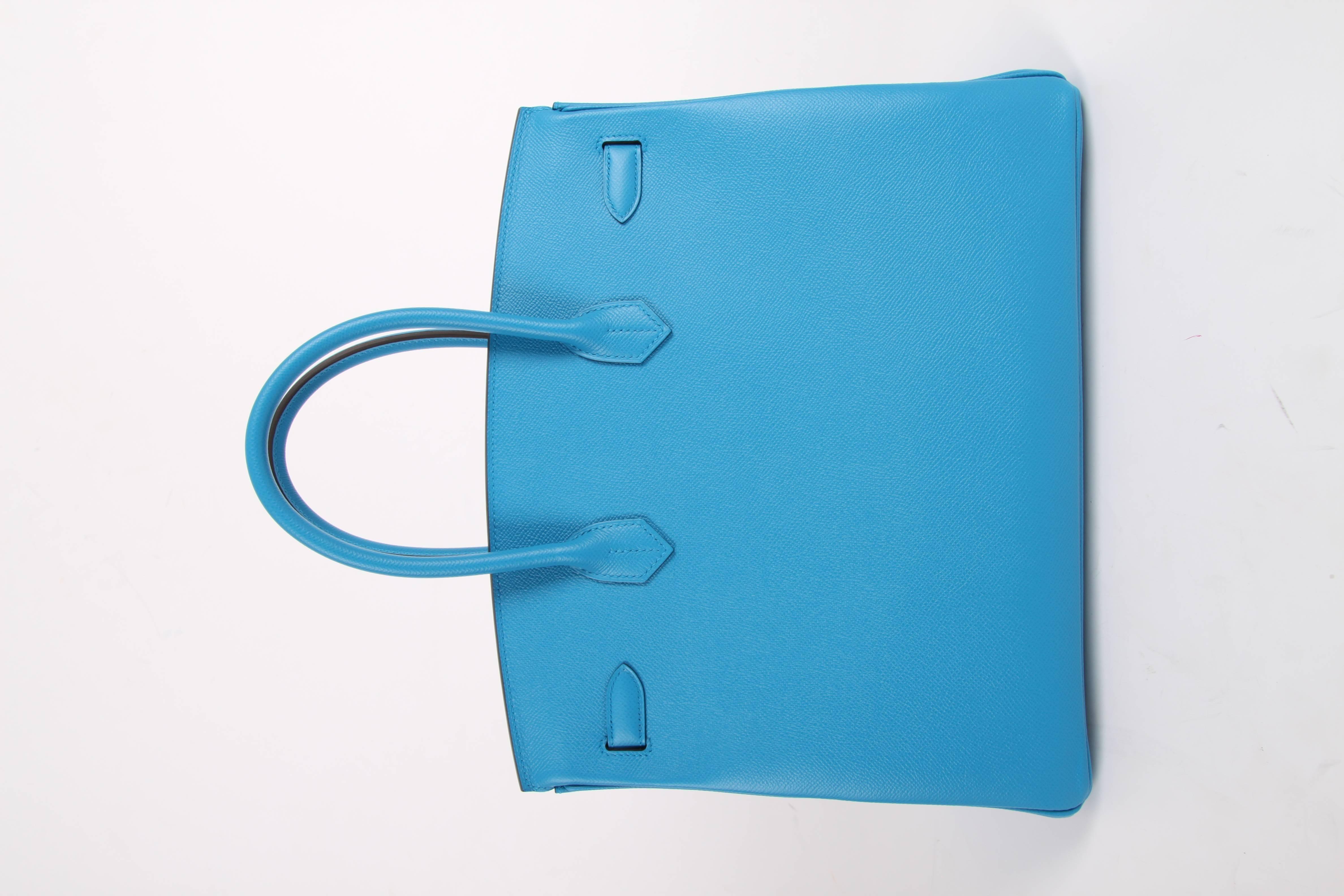 d577da855c Hermes Birkin Bag Epsom 35 Bleu Zanzibar Palladium Hardware - blue For Sale  at 1stdibs