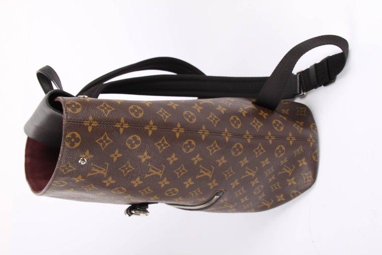 Louis Vuitton Monogram Macassar Canvas Palk Backpack Bag - brown/black For Sale 3
