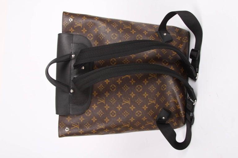 Louis Vuitton Monogram Macassar Canvas Palk Backpack Bag - brown/black For Sale 4