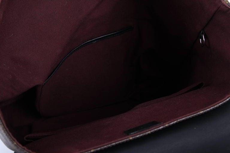 Louis Vuitton Monogram Macassar Canvas Palk Backpack Bag - brown/black In Fair Condition For Sale In Baarn, NL