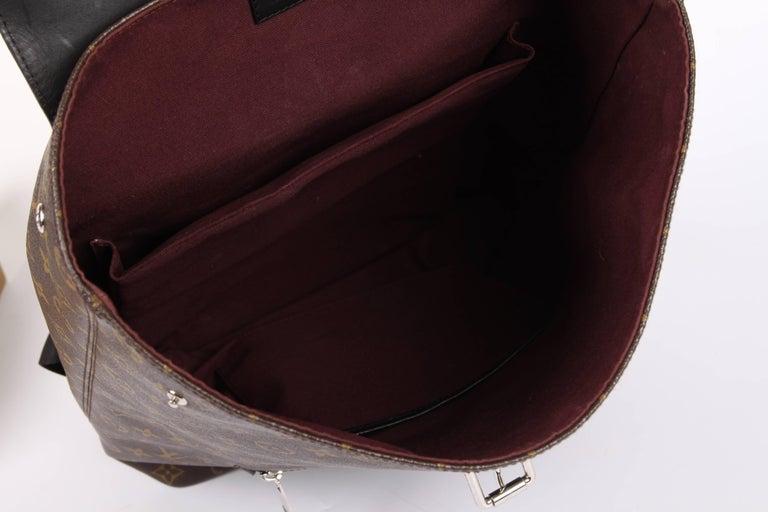 Women's or Men's Louis Vuitton Monogram Macassar Canvas Palk Backpack Bag - brown/black For Sale